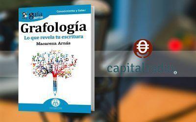 Macarena Arnás con su «GuíaBurros: Grafología» en 'Franquicia2', programa de Capital Radio